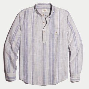 Marine Layer Shirts - Men's Marine Layer Caldwell Popover Marlin/White